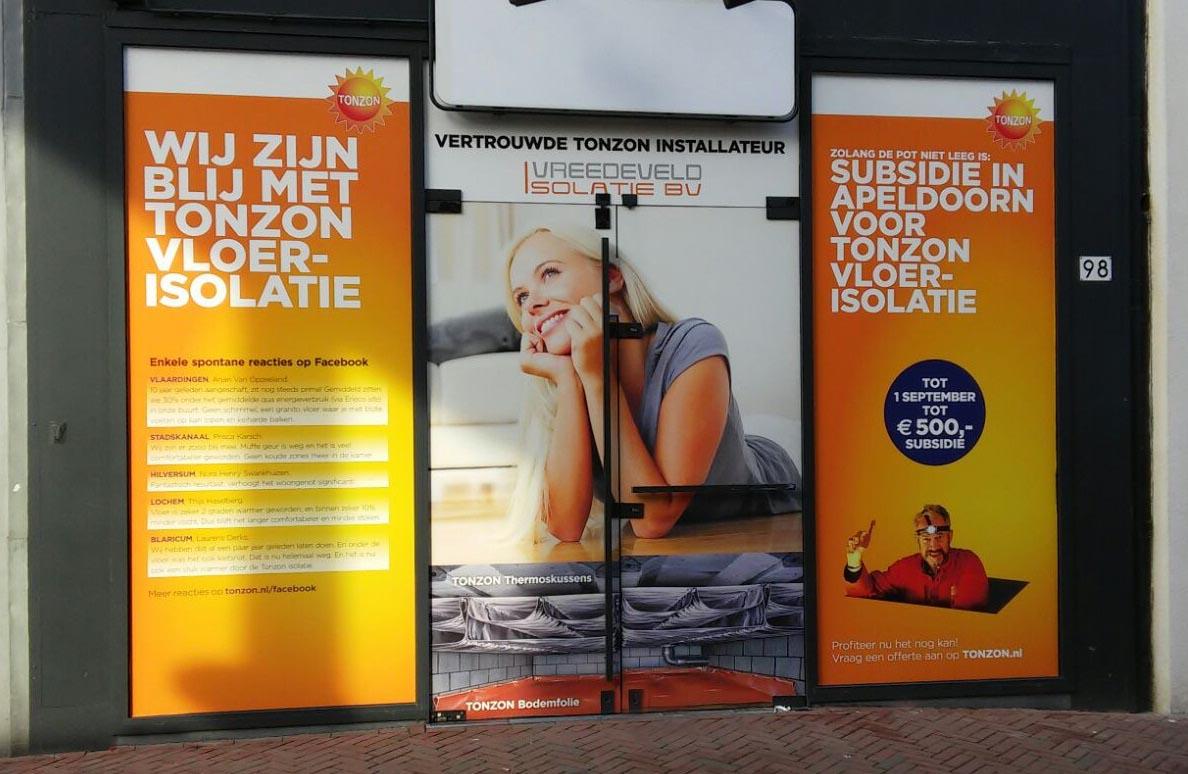 TonZon window advertising