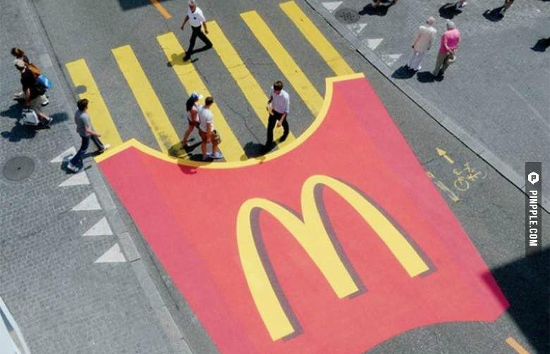 Guerilla Marketing campagne McDonalds