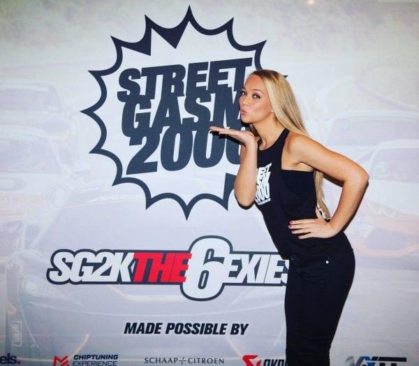 Hostess tijdens event StreetGasm