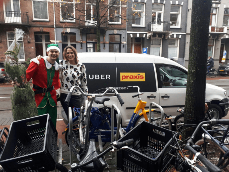 Guerrilla marketing campagne uberTREES