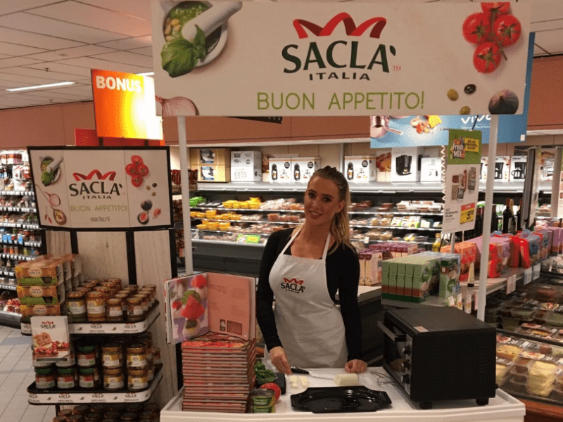 Instore demonstratie sacla