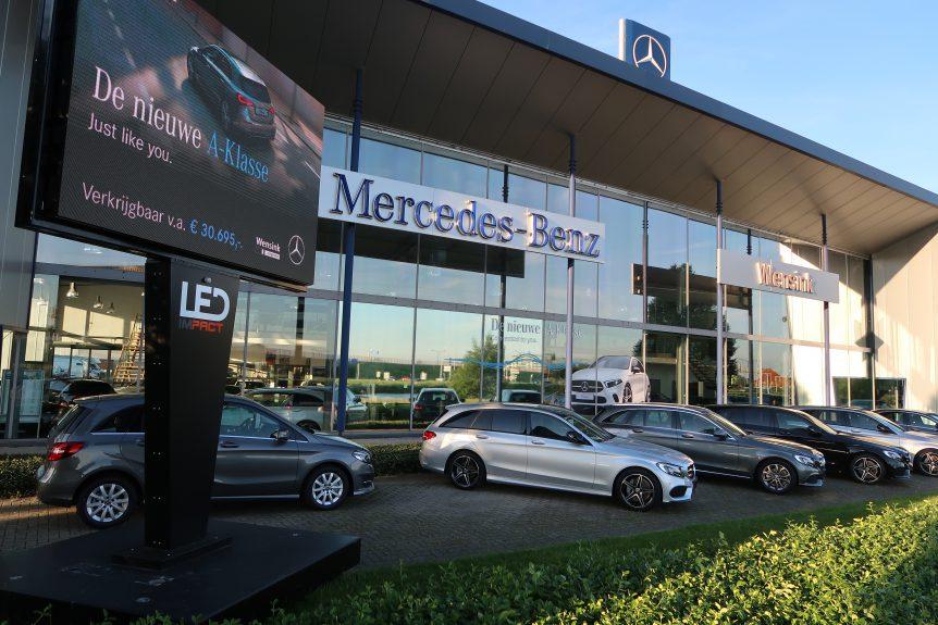 LED scherm Mercedes Benz dealer promotie