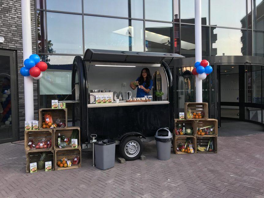 winkelopening met een food truck