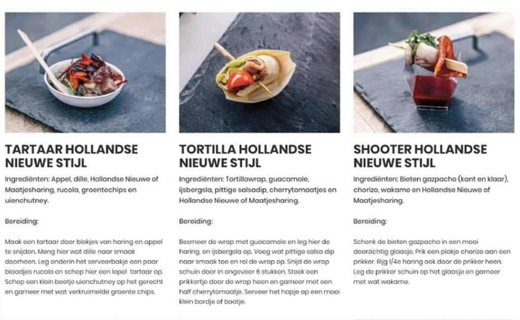 Hollandse Nieuwe Stijl gerechten