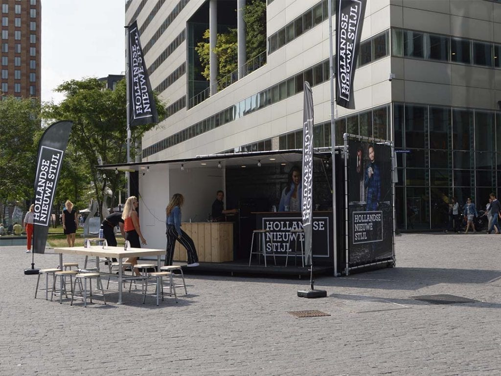 Pop-up stand Amsterdam Zuidas