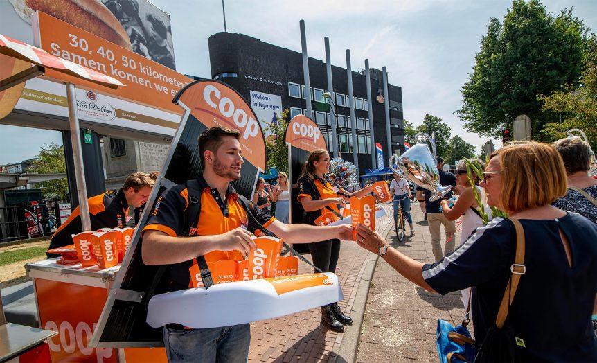 Promotiecampagne tijdens Nijmeegse 4daagse