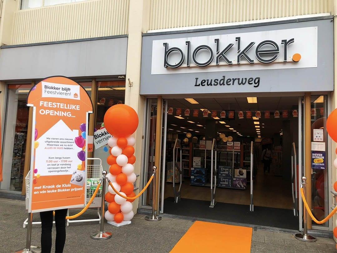 Feestelijke opening van Blokker in Grote Houtstraat